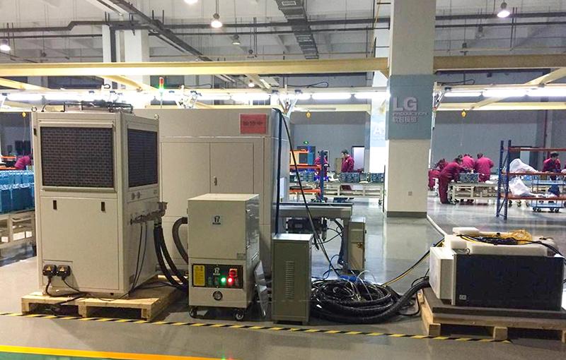 DG应用于激光焊接锂电池